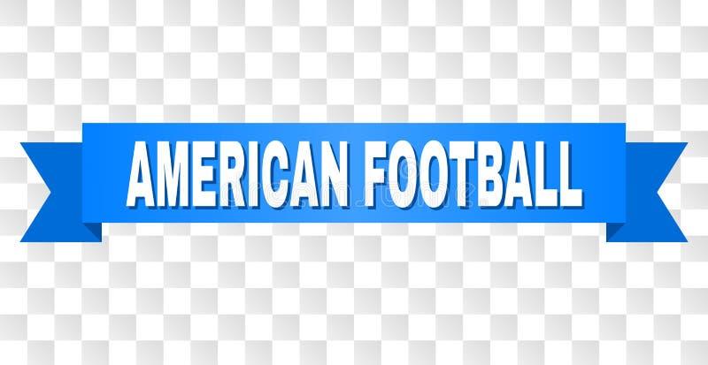 Ruban bleu avec la légende de FOOTBALL AMÉRICAIN illustration de vecteur