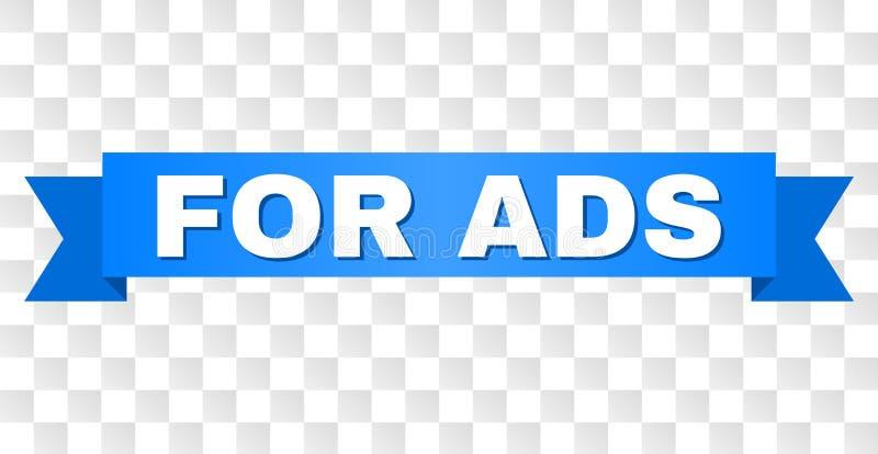 Ruban bleu avec POUR le titre d'ADS illustration stock