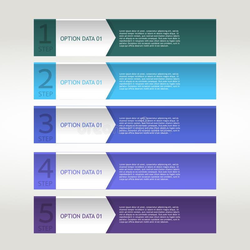 Ruban coloré de bannière. Élément pour infographic illustration libre de droits