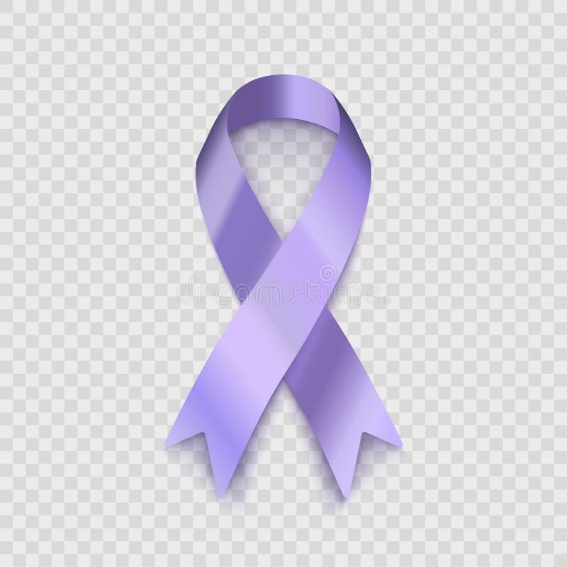 Ruban courant de lavande d'illustration de vecteur d'isolement sur le fond transparent Le problème de l'épilepsie et du cancer EP illustration de vecteur
