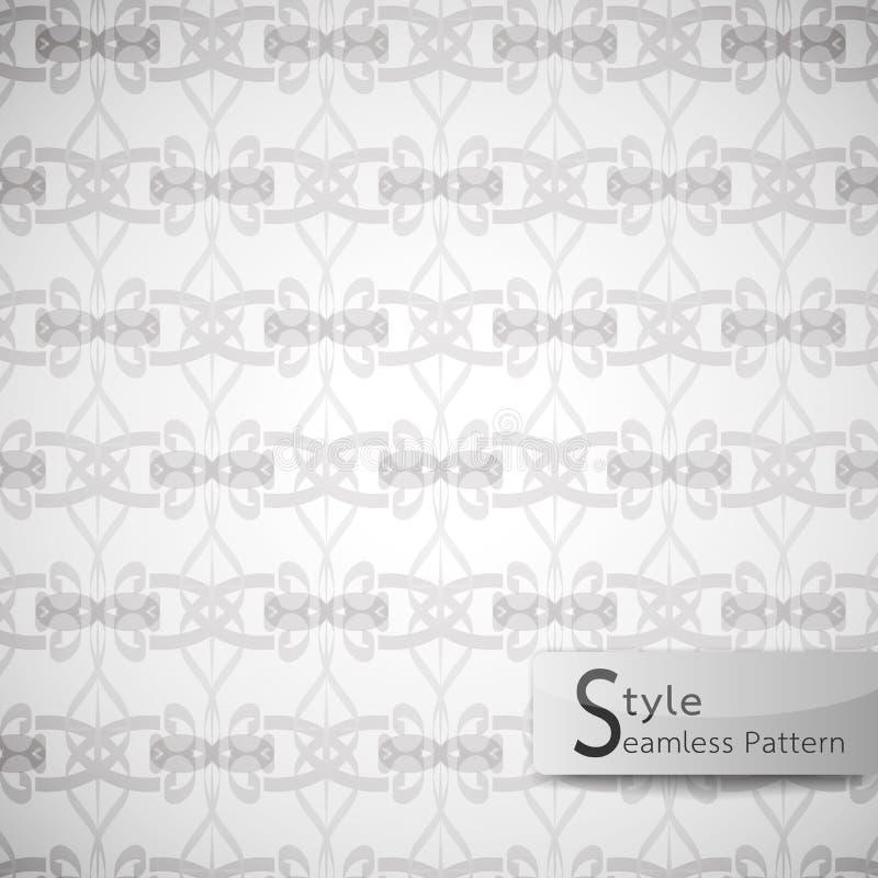 Ruban d'arc barré par trellis sans couture abstrait de modèle Texte blanc illustration de vecteur