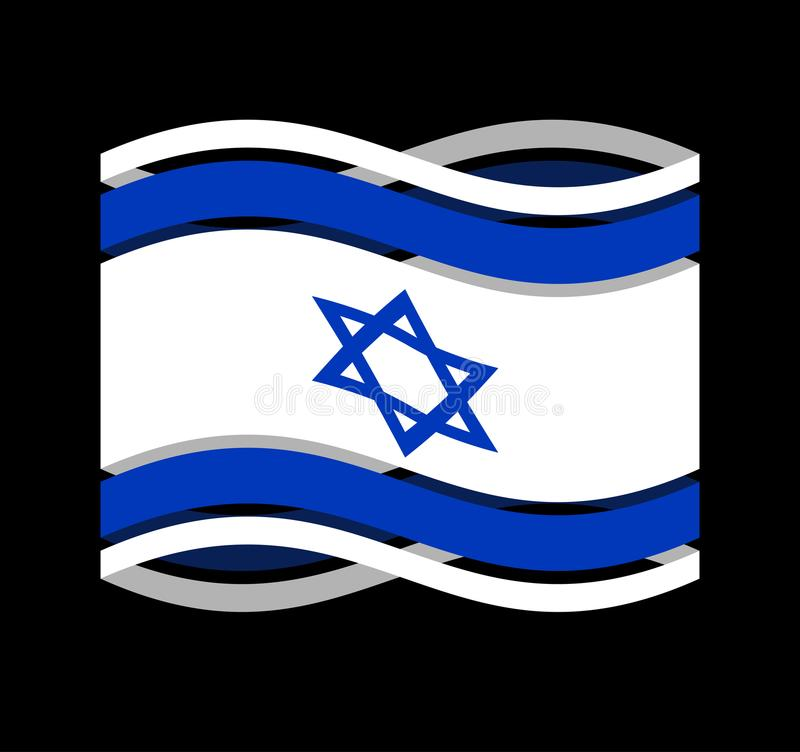 Ruban d'Israel Flag d'isolement Israeli symbol national tape état illustration de vecteur
