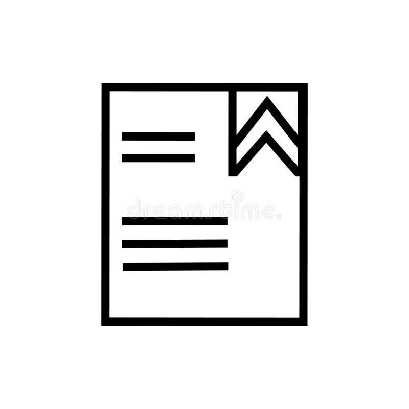 Ruban d'un signe et d'un symbole de vecteur d'icône de livre d'isolement sur le fond blanc, ruban d'un concept de logo de livre illustration de vecteur