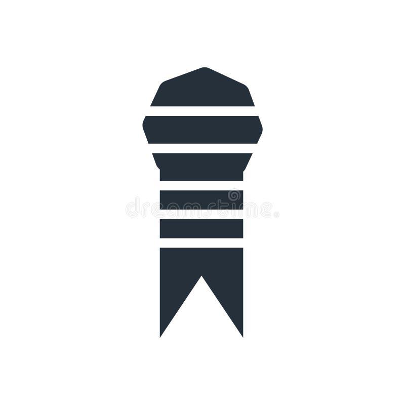 Ruban d'un signe et d'un symbole de vecteur d'icône de livre d'isolement sur le fond blanc, ruban d'un concept de logo de livre illustration libre de droits