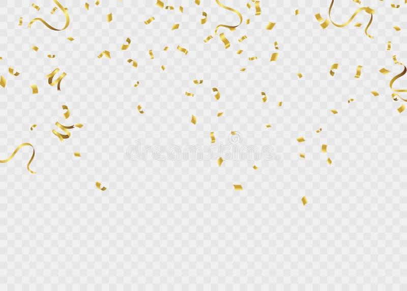 Ruban de calibre de fond de célébration Étincelles d'or S élégant illustration de vecteur