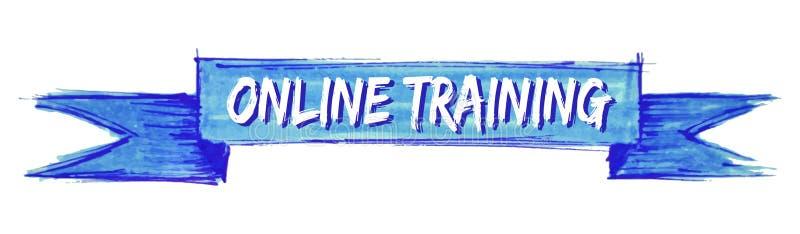 ruban de formation en ligne illustration de vecteur