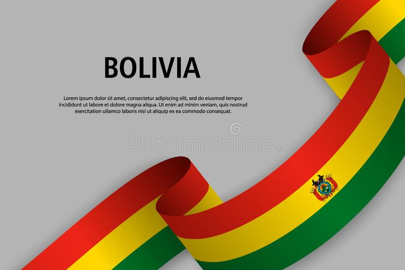 Ruban de ondulation avec le drapeau de la Bolivie, illustration de vecteur