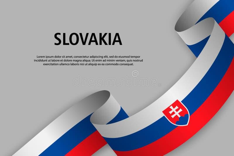 Ruban de ondulation avec le drapeau de la Slovaquie, illustration stock