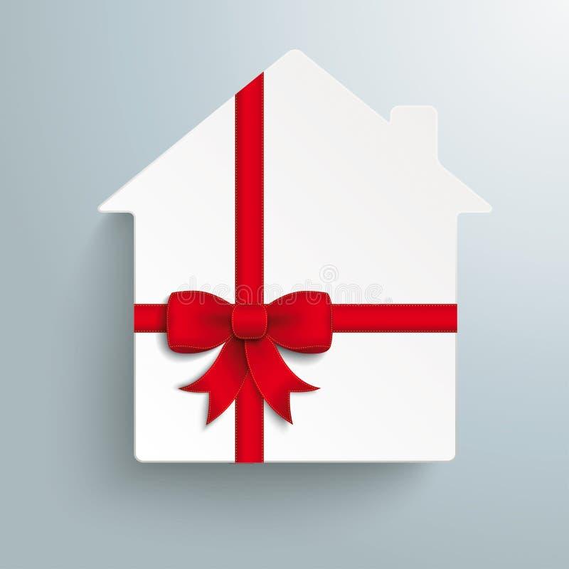 Ruban de rouge de cadeau de Chambre illustration stock