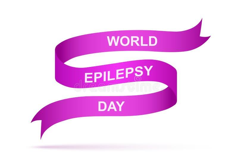 Ruban du jour d'épilepsie du monde Illustration de vecteur illustration de vecteur