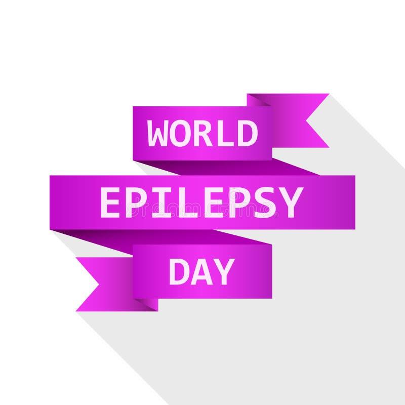 Ruban du jour d'épilepsie du monde Illustration de vecteur illustration libre de droits