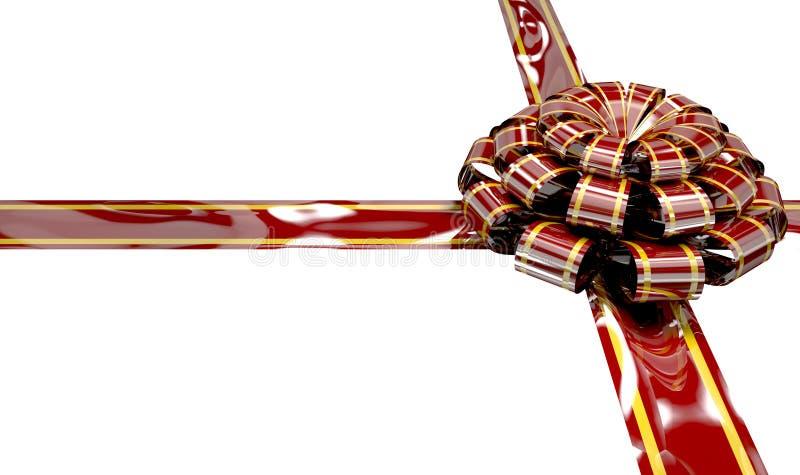 Ruban et arc de Noël illustration stock