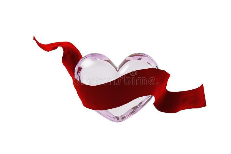 Download Ruban Et Verre En Forme De Coeur Illustration Stock - Illustration du couleur, beau: 87705090