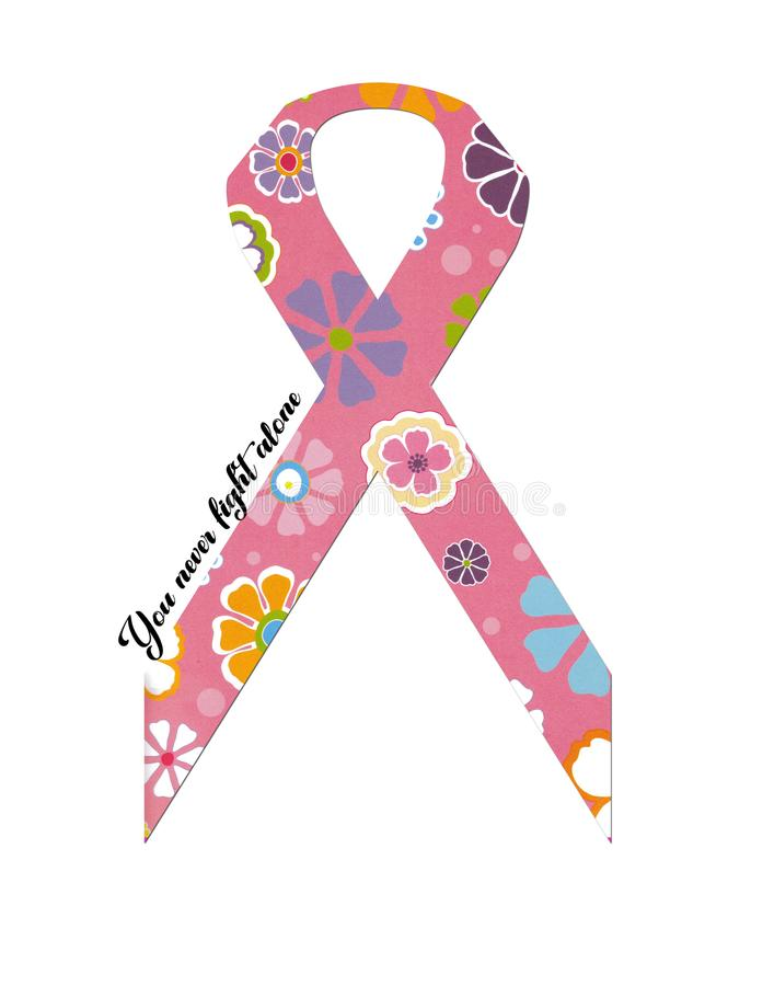 Ruban floral de Cancer photo stock
