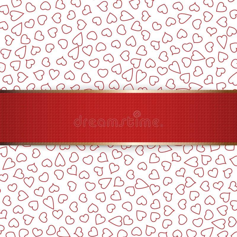 Ruban réaliste de rouge de jour de Noël ou de valentines illustration stock