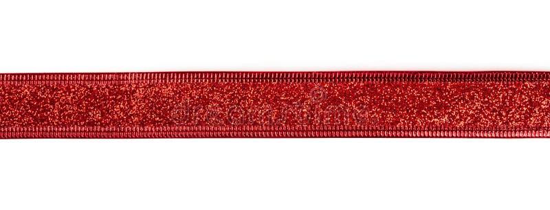 Ruban rouge avec le scintillement photo stock