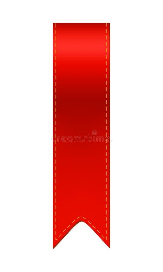 Ruban rouge de repère illustration libre de droits