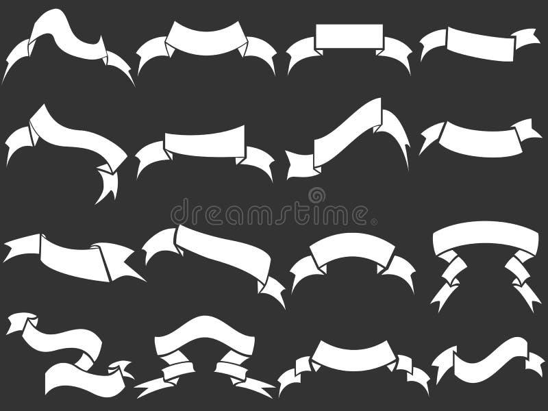 Rubans blancs réglés illustration stock