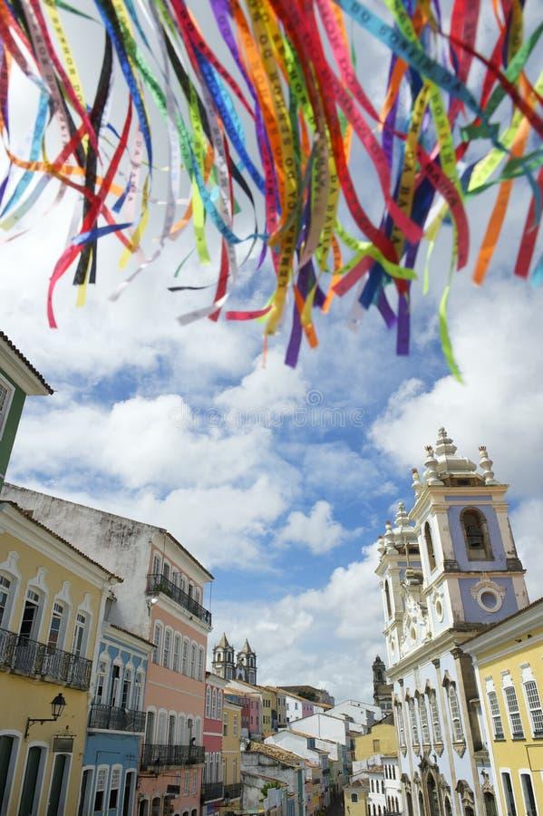 Rubans brésiliens Pelourinho Salvador Bahia Brazil de souhait photos libres de droits