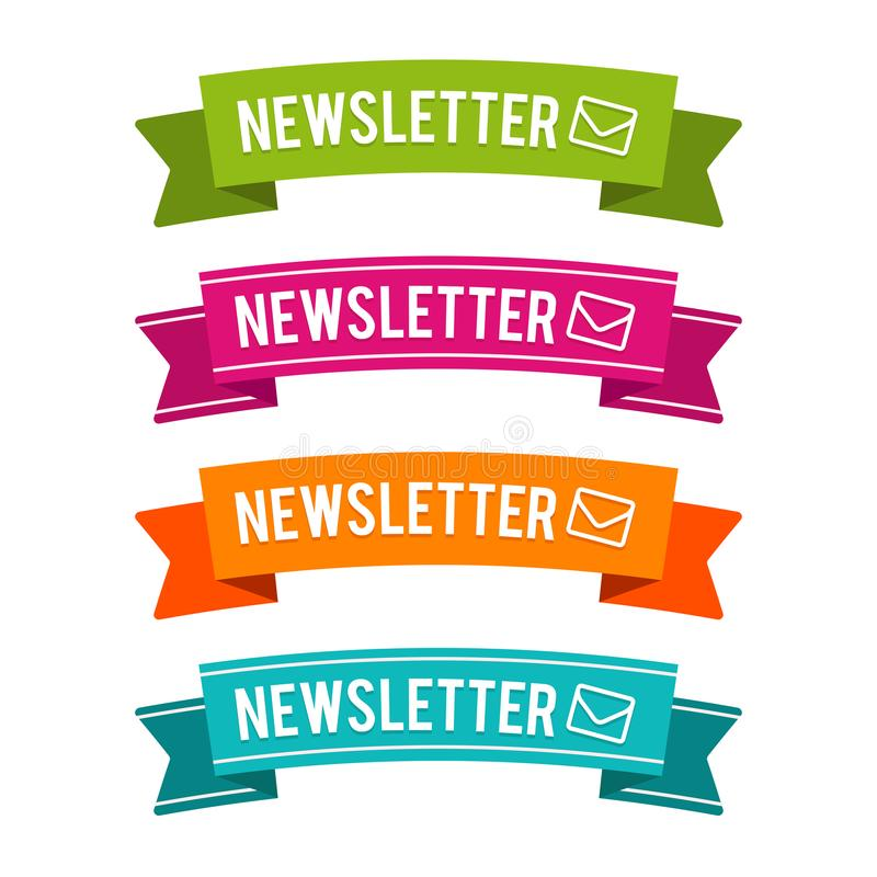 Rubans colorés de bulletin d'information Vecteur Eps10 illustration libre de droits