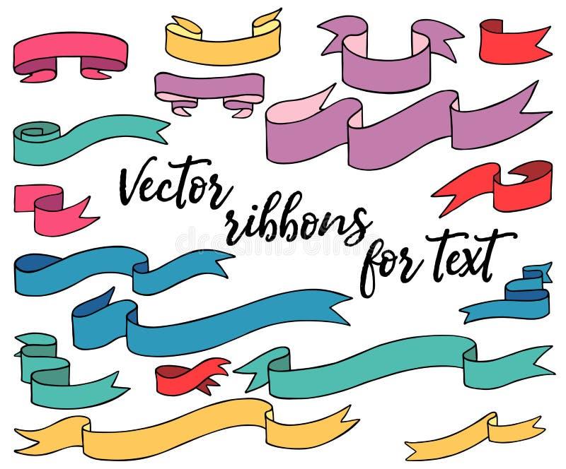 Rubans colorés de vecteur pour le texte illustration libre de droits