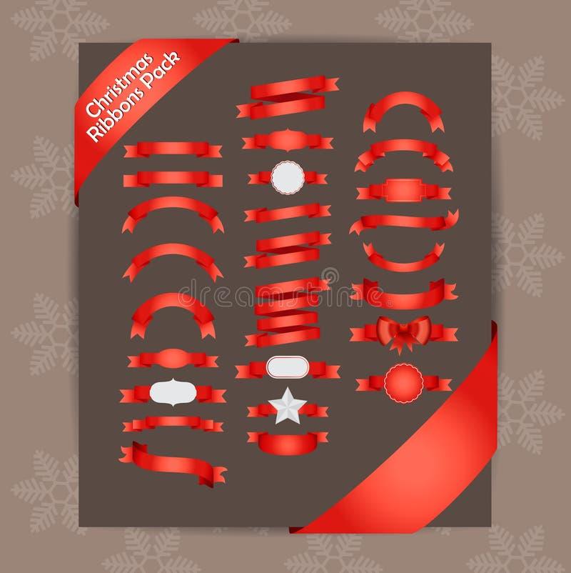 Rubans de Noël images libres de droits
