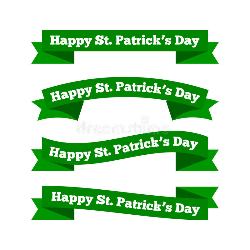 Rubans du jour de St Patrick illustration stock