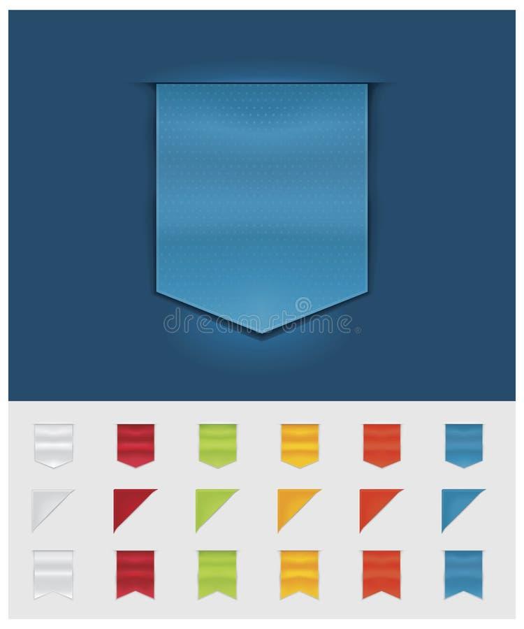 Rubans et étiquettes de vecteur illustration stock