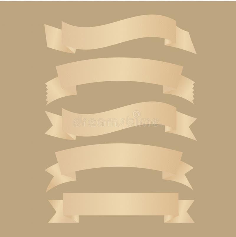 Rubans, illustration de vecteur photos libres de droits