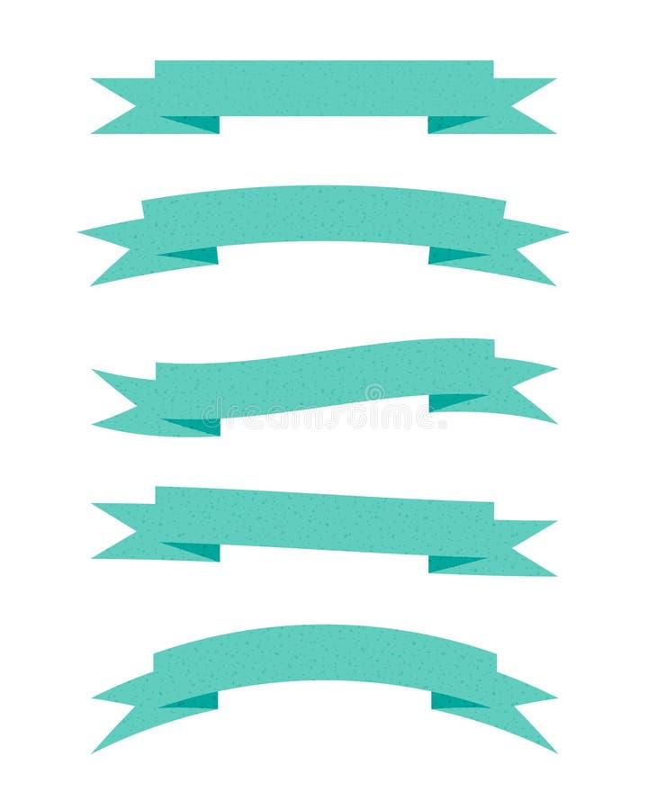 Rubans texturisés verts illustration stock