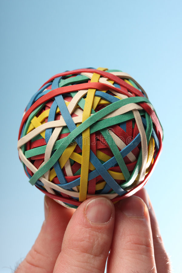 Rubber bal royalty-vrije stock foto