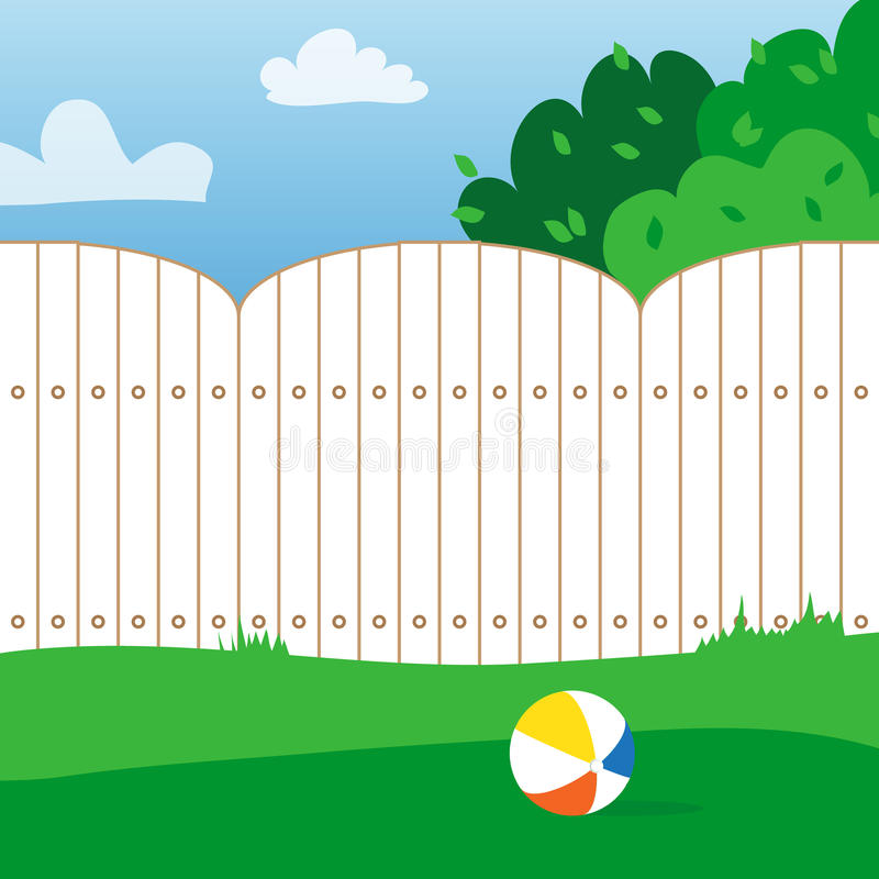 Free Rubber Ball And Grass Field. House Backyard. Royalty Free Stock Photos - 70812648