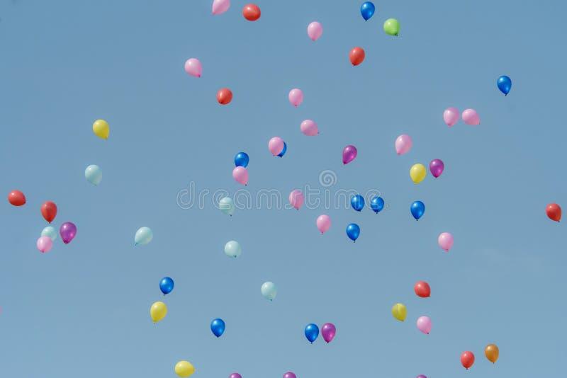 Rubber balloon with blue sky royalty free stock photos