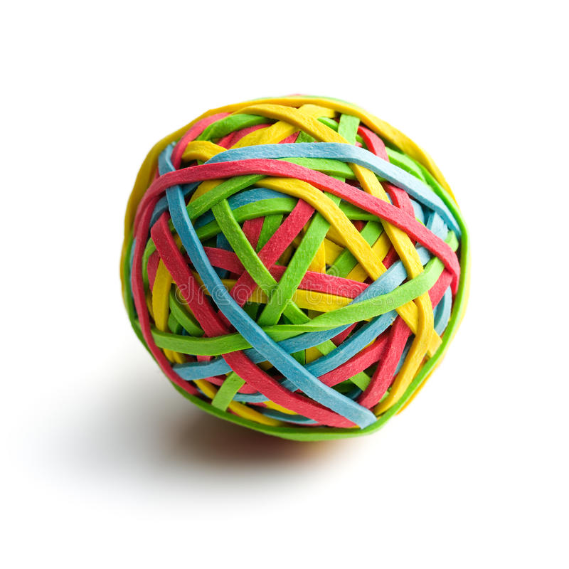 Download Rubber band ball stock photo. Image of full, different - 27090684