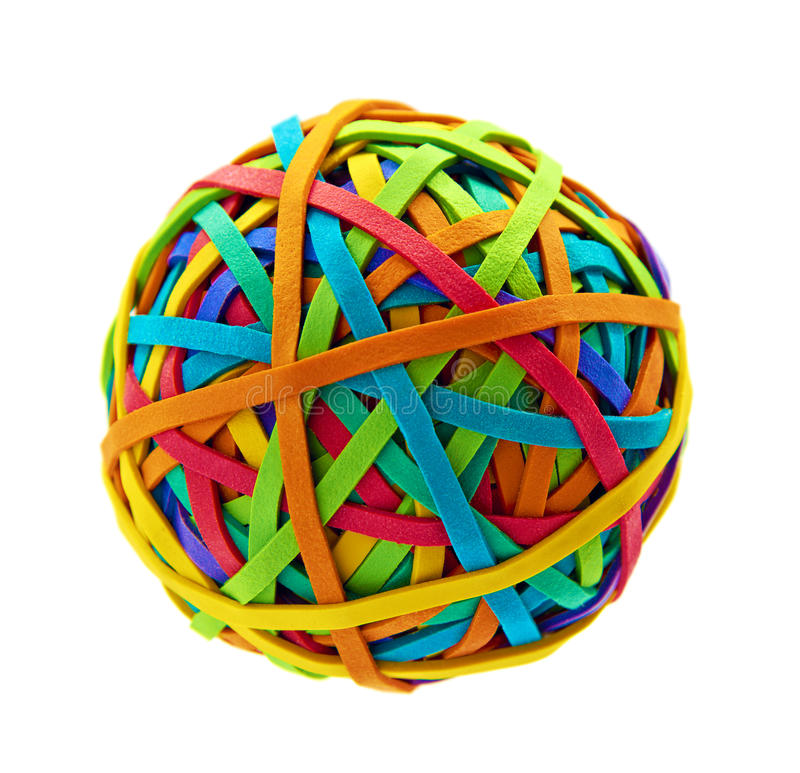 Free Rubber Band Ball Royalty Free Stock Photography - 36225737