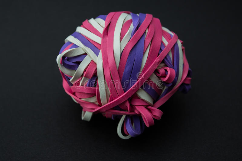 Rubber band ball royalty free stock photography