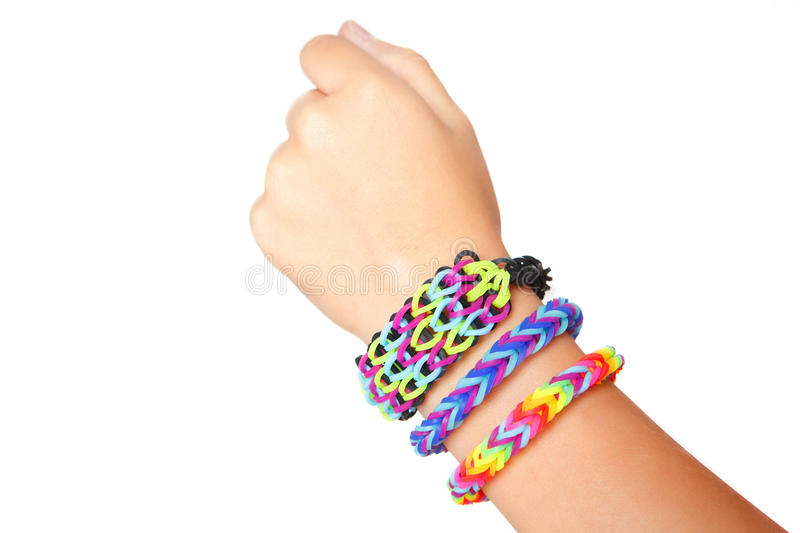 rubberband main band easy bracelet rubber make braceletmade braided peachy