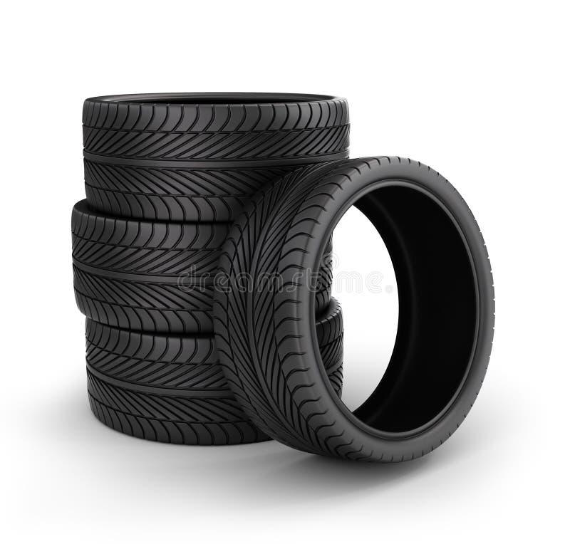 Rubber band 3D wiel, Pictogram stock illustratie