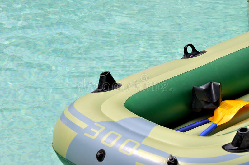 Rubber Boat On Water Royalty Free Stock Photos