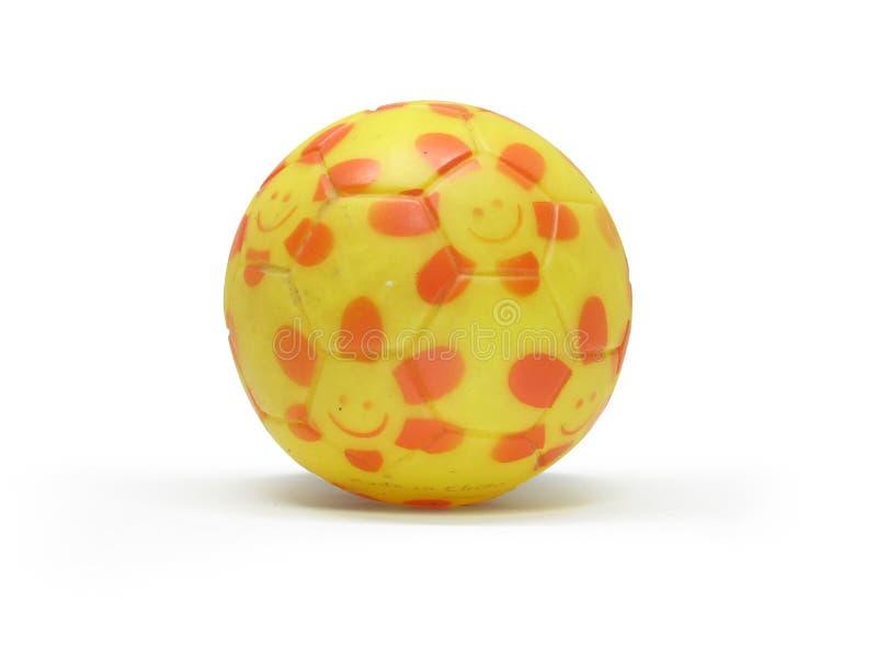Rubber boll för leksak för isolerad hundkapplöpning royaltyfri bild