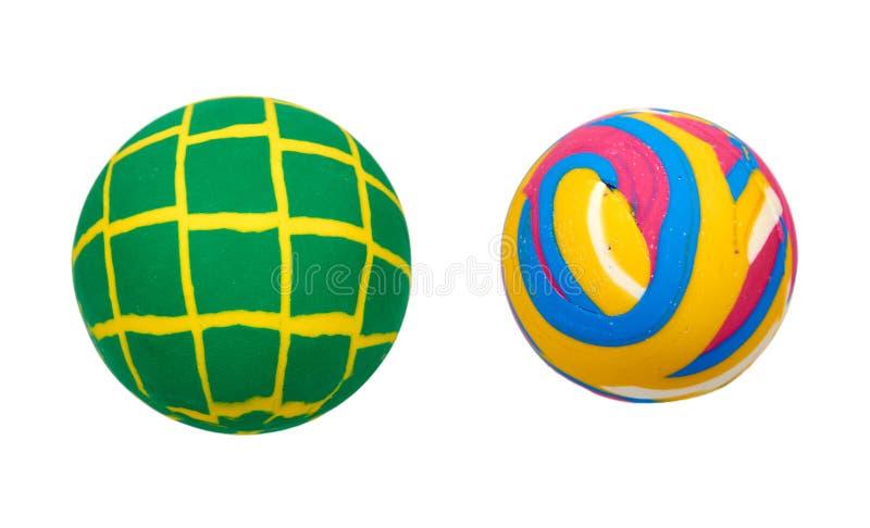 Rubber bouncing ball, fun game, set and collection royalty free stock photos