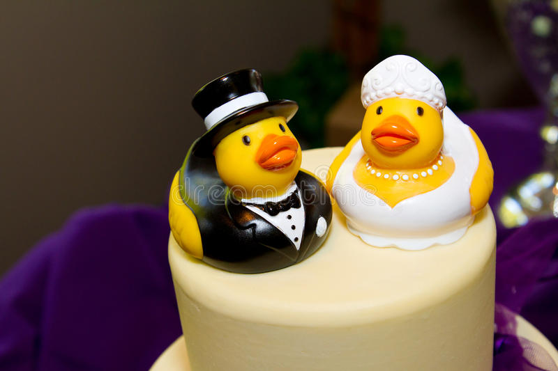 Rubber Duck Cake royalty free stock photo