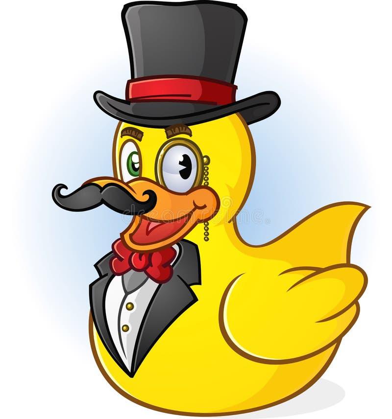 Rubber Duck Gentleman Cartoon vector illustration