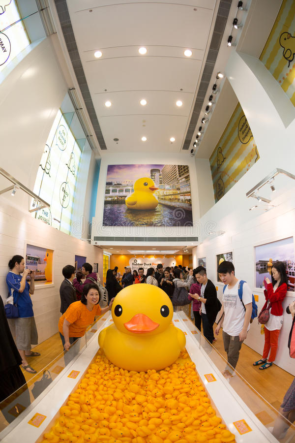 Rubber Duck In Hong Kong Editorial Photo