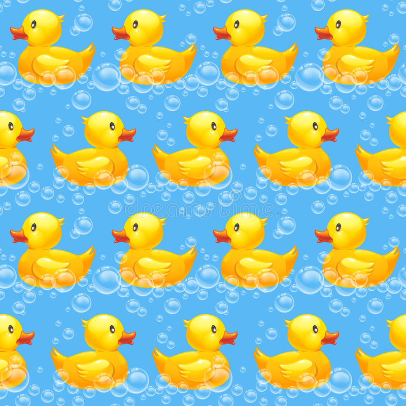 Rubber duck seamless pattern. 10eps royalty free illustration