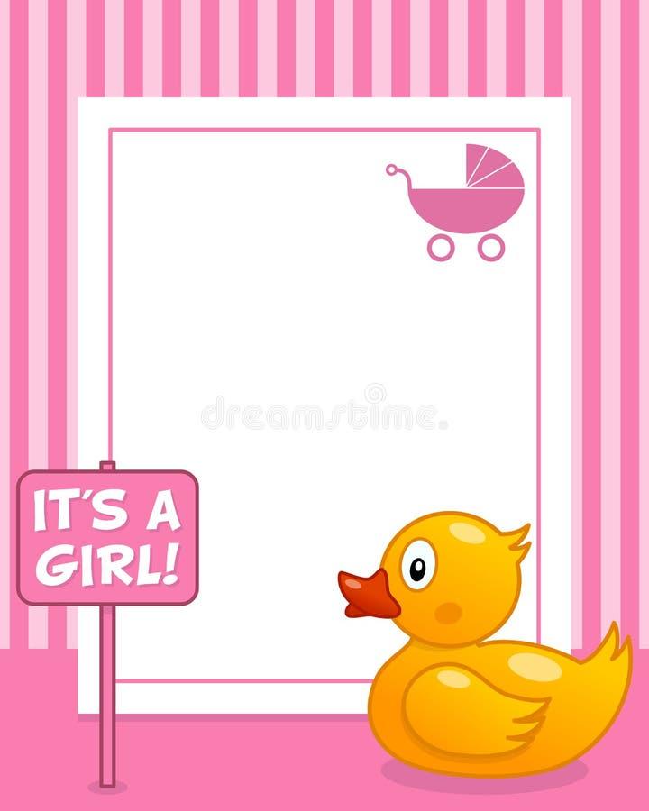 Rubber Duck Vertical Girl Photo Frame Stock Vector - Illustration of ...