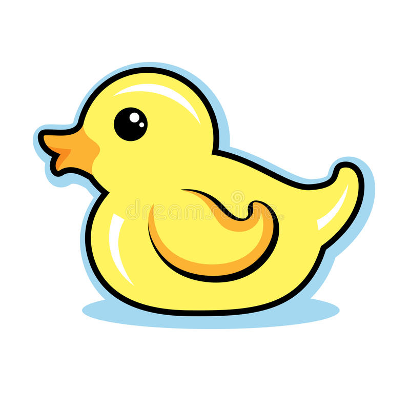 rubber ducky vector illustration cute stock vector illustration of rh dreamstime com