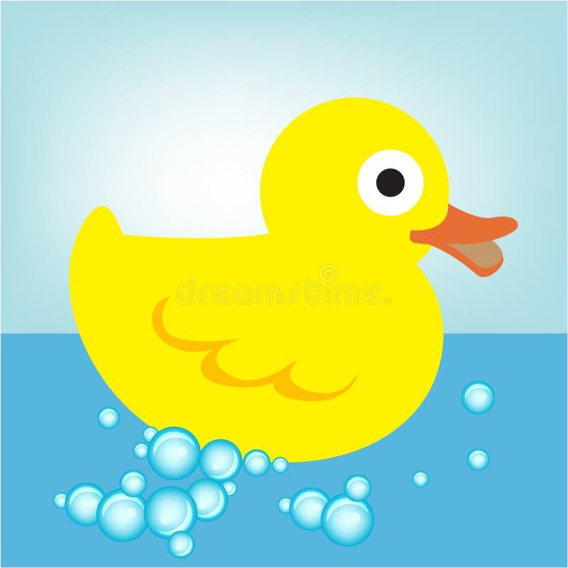 Rubber eend in water vector illustratie