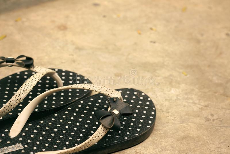 Rubber flip-flops stock photo