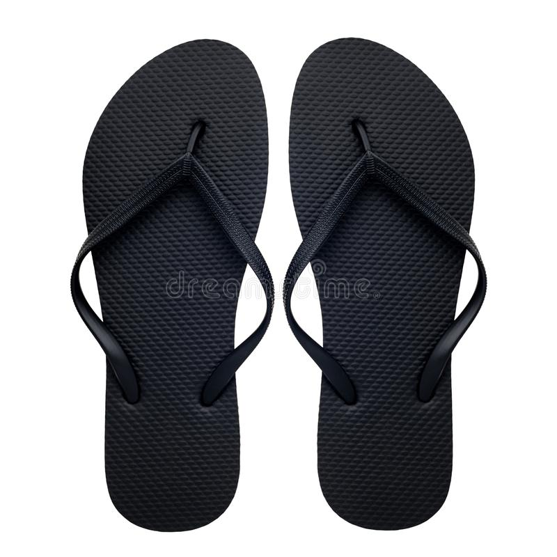 Rubber flip-flops isolated royalty free stock photo